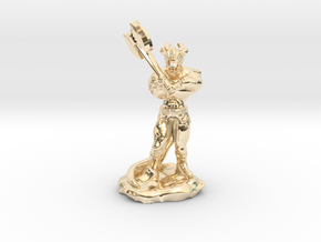 Dragonborn Barbarian with Axe in 14K Yellow Gold