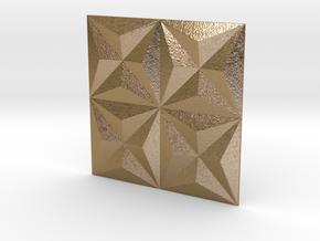 3d Tile_1_metal in Polished Gold Steel