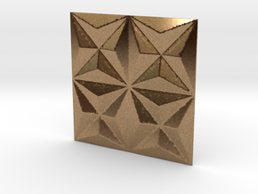 3d tile_1_precious in Natural Brass