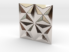 3d tile_1_precious in Rhodium Plated Brass