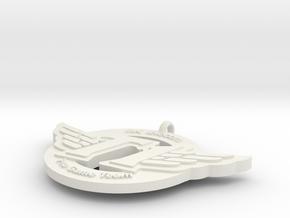 SKT Pendant in White Natural Versatile Plastic
