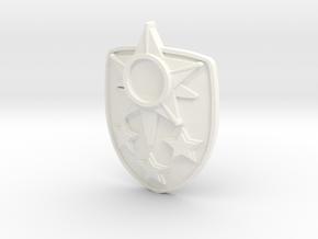 Star Shield in White Processed Versatile Plastic