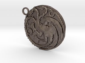 Targaryen Sigil in Polished Bronzed Silver Steel