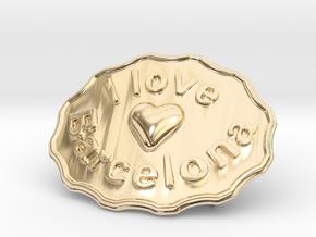 I Love Barcelona in 14k Gold Plated Brass