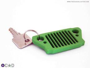 OCAD WW2 JEEP GRILL KEYRING HANGER. in Green Processed Versatile Plastic