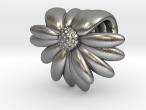 Daisy Bead  in Natural Silver