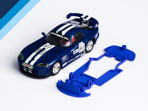 1/32 Carrera Dodge Viper GTS-R Chassis slot.it pod in Blue Processed Versatile Plastic