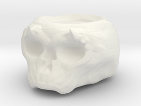 Demonic Skull Candle Holder in White Natural Versatile Plastic