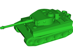 PzKpfW 6 Ausf. E Tiger (SdKfz 181) in White Strong & Flexible: Small