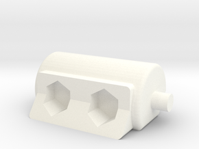 Elevation Part Replacement for Tau Chimera Turret  in White Processed Versatile Plastic
