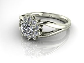 Grace collection 5 NO STONES SUPPLIED in Fine Detail Polished Silver
