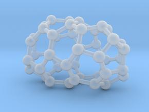 0631 Fullerene c44-2 d2 in Smooth Fine Detail Plastic