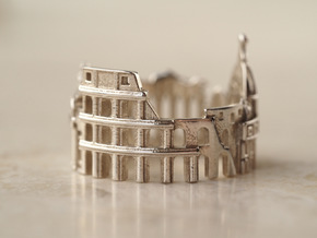 Rome Ring - Gift for Designer in Polished Silver: 5 / 49