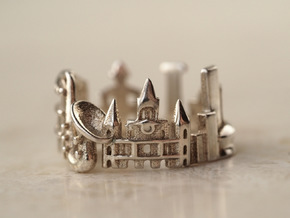 New Orleans Ring - Gift for Traveler in Polished Silver: 5 / 49