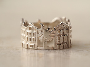 Charleston Cityscape - Skyline Ring in Polished Silver