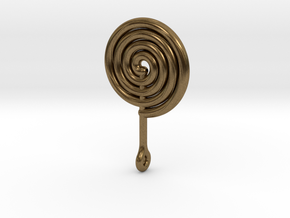 Colorful Swirl Lollipop pendant in Natural Bronze: Medium