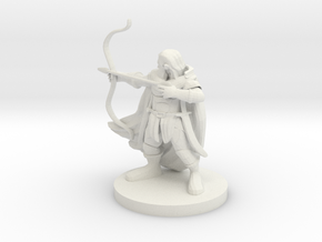 Dwarf  Male  Ranger in White Natural Versatile Plastic