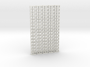 Cinder Block Loose 75 Pack 1-50 scale in White Natural Versatile Plastic