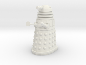 Imperial Dalek - Pose 3 in White Natural Versatile Plastic