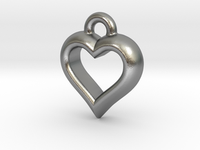 The Hearty Little Heart (precious metal pendant) in Natural Silver