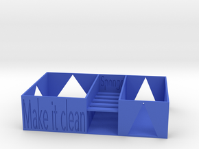 Kitchen washing support in Blue Processed Versatile Plastic