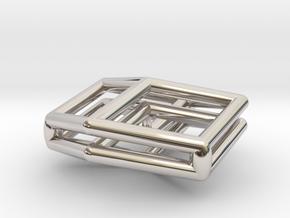 Bilinski Cubes Pendant I in Rhodium Plated Brass