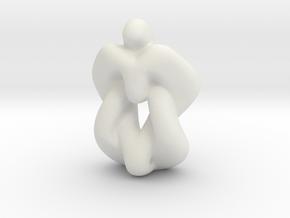 Heart Valve in White Natural Versatile Plastic
