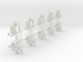 1/2000 Pirate Ship Game Pieces in White Natural Versatile Plastic: Small