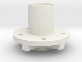 "Rear Hubs - 5 x 5"" bolt pattern in White Natural Versatile Plastic"