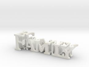 3dWordFlip: Family/Forever in White Natural Versatile Plastic