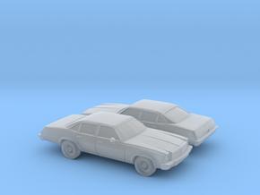 1/160 2X 1975 Chevrolet Chevelle Sedan in Frosted Ultra Detail