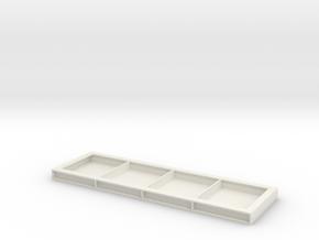 Crawler crane mat 160x50mm in White Natural Versatile Plastic