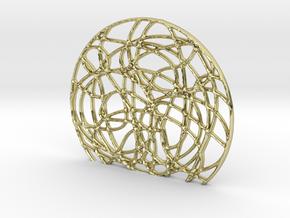 Alpha One Globetrotter Pendant in 18k Gold