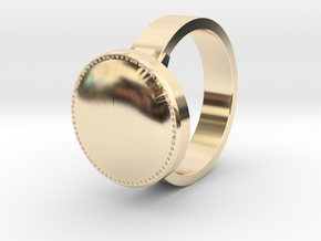DS inspired ring Size 5 in 14k Gold Plated Brass
