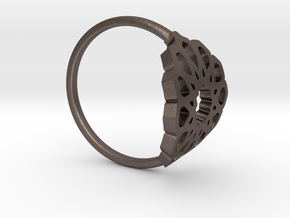 Seamless Ring in Polished Bronzed Silver Steel: Medium
