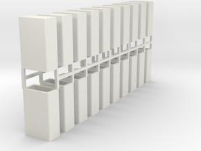 Stahlbrammen stehend 20er Set - 1:120 in White Strong & Flexible