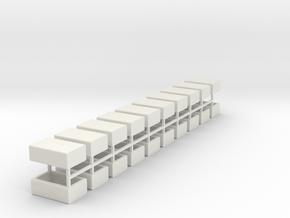Stahlbrammen liegend 20er Set - 1:120 in White Natural Versatile Plastic