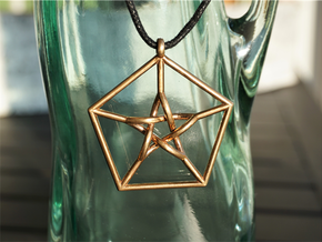 Petersen Graph Pendant in Raw Bronze