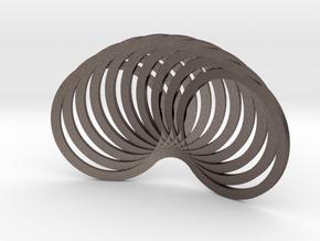 Muzumi in Polished Bronzed Silver Steel: Small