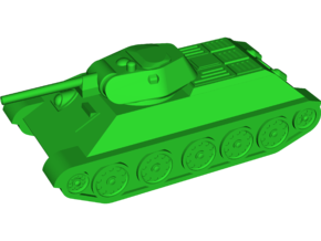 T-34-76 Model 1941 Medium Tank in White Natural Versatile Plastic: Small