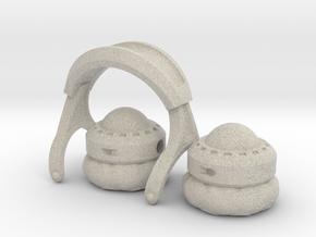 Pocket full headphones - (Assembled version) in Natural Sandstone