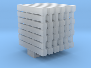 Pallets 01. HO Scale (1:87) in Smooth Fine Detail Plastic