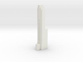 Triple Underpass West Roadway Pillar in White Natural Versatile Plastic