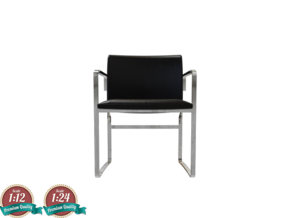 Miniature CH111 Chair - Hans J. Wegner in White Natural Versatile Plastic: 1:24