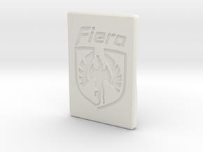 Pontiac Fiero Door Handle Cap in White Natural Versatile Plastic