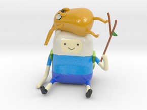 Jake and Finn adventure time in Glossy Full Color Sandstone