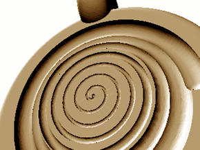 spiral pendant negative in Polished Brass