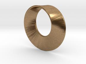 Mini Mobius in Natural Brass