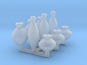 15mm Vases in Smoothest Fine Detail Plastic