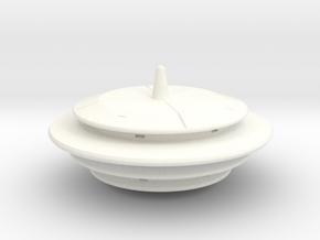 Saucer Series 3 in White Processed Versatile Plastic